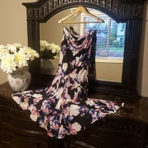 Betsey Johnson Floral Tie Dye Ruffled Midi Dress